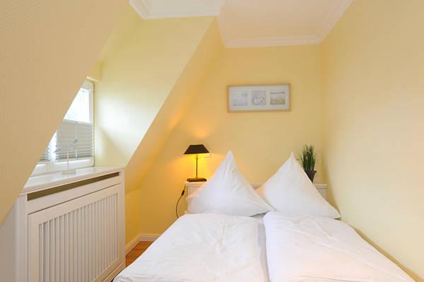 Schlafzimmer im Sylter Ferienhaus Golfhouse II