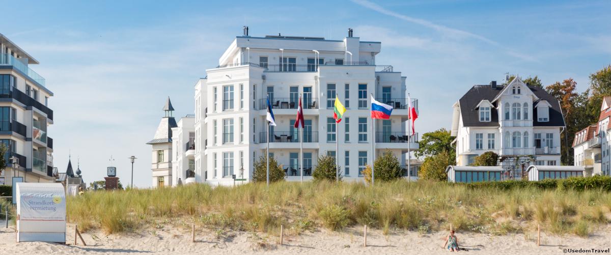 Lage auf der Insel Usedom · Beachhouse Bansin · Meer Deluxe  Lage auf der In...